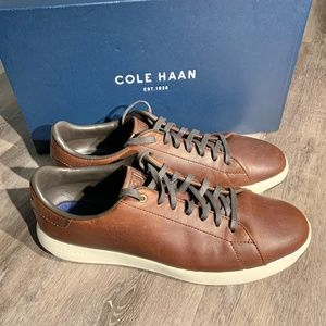 Cole Haan GrandPro Leather Low Top Sneakers Brown